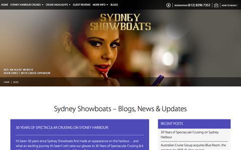 Screenshot of Blog sydneyshowboats.com.au - Sydney Showboats Blog - captured Sept. 21, 2018