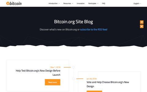 Bitcoin.org Site Blog - Bitcoin