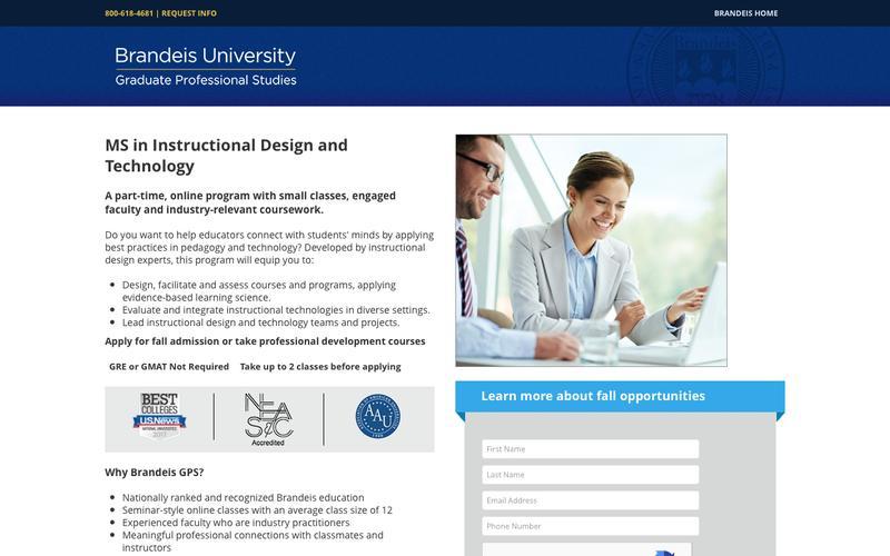 Graduate Professional Studies | Instructional Design & Technology | Brandeis University