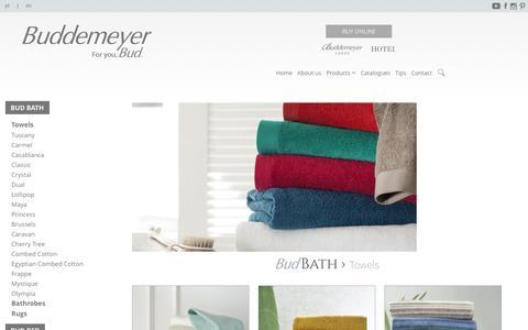 Screenshot of Products Page buddemeyer.com.br - Towels - Buddemeyer - captured Jan. 26, 2017