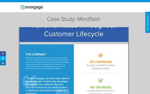 Screenshot of Case Studies Page evergage.com - Evergage | Case Study: Mindflash - captured May 24, 2019