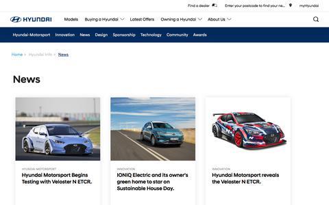 Screenshot of Press Page hyundai.com - Hyundai News  | Hyundai Australia - captured Oct. 5, 2019