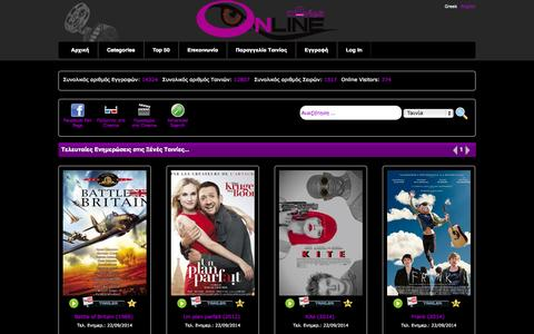 Screenshot of Home Page online-movies.cc - Free Online Movies Series Free Online Series Movies - captured Sept. 19, 2014