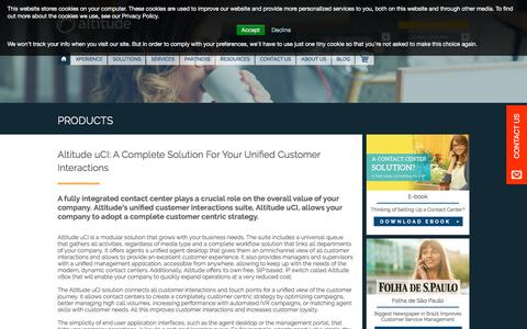 Screenshot of Products Page altitude.com - Altitude uCI: Unified Customer Interactions Solution - Altitude.com | EN Altitude - captured Sept. 2, 2016