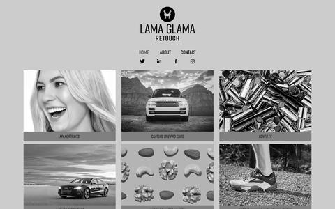 Screenshot of Home Page lama-glama.co - LAMA GLAMA RETOUCH - captured July 14, 2018