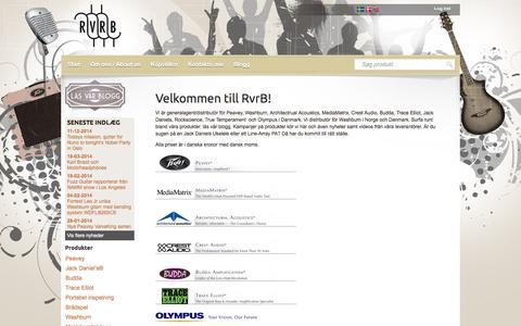Screenshot of Home Page rvrb.dk - Velkommen til RvrB! - captured Sept. 4, 2015