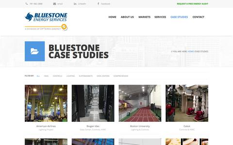 Screenshot of Case Studies Page bluestoneenergy.com - Bluestone Energy Services Case Studies - captured Oct. 27, 2014