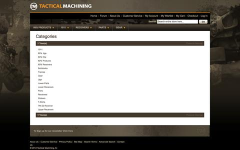Screenshot of Site Map Page tacticalmachining.com - Tactical Machining - captured Sept. 23, 2014