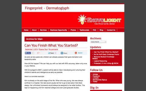 Screenshot of Blog encycligent.com - Main | Fingerprint - Dermatoglyph - captured Oct. 2, 2014