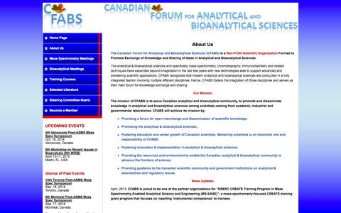 Screenshot of About Page cfabs.org - CFABS - About us - captured Oct. 1, 2014
