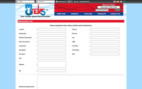 Screenshot of Signup Page tanex.com.tr - Taneks - captured Nov. 14, 2017