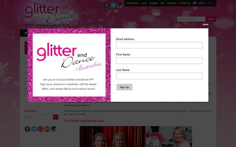 Screenshot of About Page glitteranddance.com.au - Glitter and Dance - Australia - The Glitter & Dance Story & Cast - captured May 18, 2017