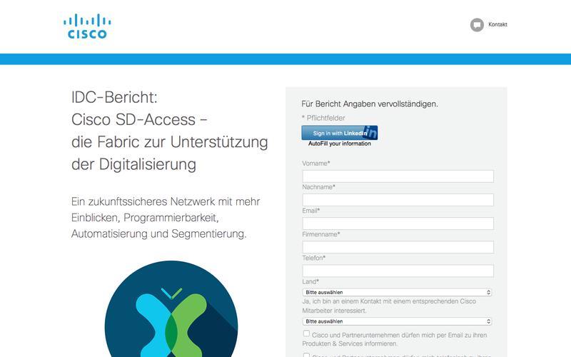 IDC-Bericht: Software-Defined Access– die Fabric zur Unterstützung der Digitalisierung | Cisco