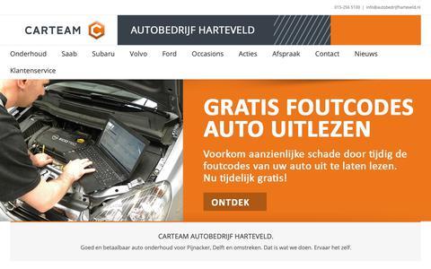 Screenshot of Home Page autobedrijfharteveld.nl - Auto onderhoud, APK en reparatie.   Carteam Harteveld Pijnacker - captured Oct. 1, 2018