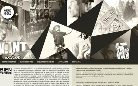 Screenshot of Home Page agenciasdeespana.es - AGENCIAS DE ESPAÑA - captured Oct. 4, 2014