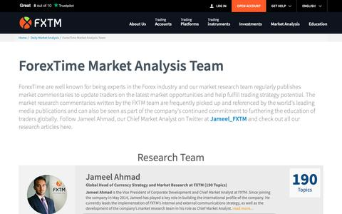 Screenshot of Team Page forextime.com - ForexTime Market Analysis Team | FXTM Global - captured May 29, 2019