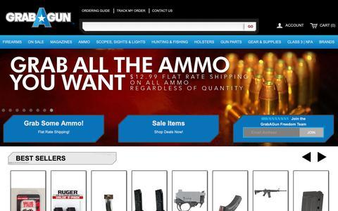 Screenshot of Home Page grabagun.com - Guns for Sale | Cheapest Online Gun Store | GrabAGun Firearms Dealer - captured Oct. 13, 2018
