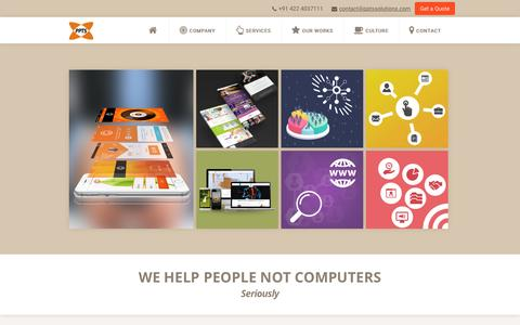 Screenshot of Home Page pptssolutions.com - Software Development Company | OpenERP Development Coimbatore, India - PPTS - captured Oct. 1, 2015