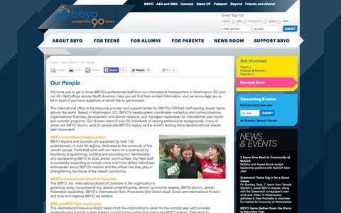Screenshot of Team Page bbyo.org - BBYO: Jewish organization and Community Services in North America - captured Sept. 25, 2014