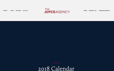 Screenshot of Services Page thejoyceagency.com - Training — The Joyce Agency - captured Oct. 18, 2018