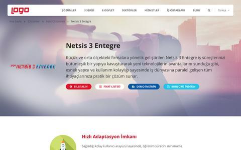 Netsis 3 Entegre | Kobi Çözümleri | Logo Yazılım