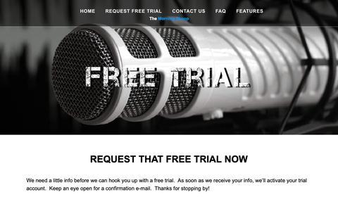 Screenshot of Trial Page themorningskoop.com - Request Free Trial | The Morning Skoop - captured Oct. 20, 2018