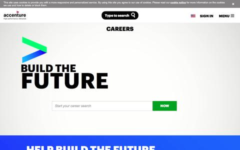 Screenshot of Jobs Page accenture.com - Accenture Career Opportunities - captured April 4, 2017