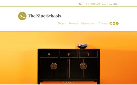 Screenshot of Home Page thenineschools.co.uk - The Nine Schools Chinese and Oriental Furniture - captured Dec. 6, 2016