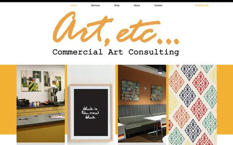 Screenshot of Home Page art-etc.com - Art Etc | Commercial Art Consulting | Portland, OR - captured July 30, 2018