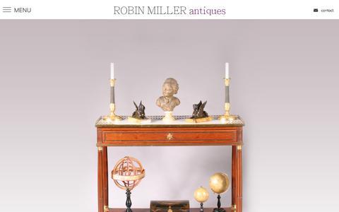 Screenshot of Home Page robinmillerantiques.com - Home - Robin Miller Antiques - captured Nov. 13, 2017