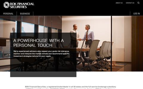 Screenshot of About Page bokfinancial.com - About Us | BOK Financial Securities - captured Oct. 24, 2018