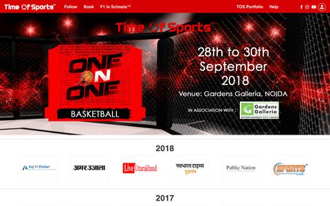 Screenshot of Press Page timeofsports.com - Time Of Sports -  Latest Sports News, Book Events, Consultancy and Management, F1 in School India - captured Sept. 21, 2018
