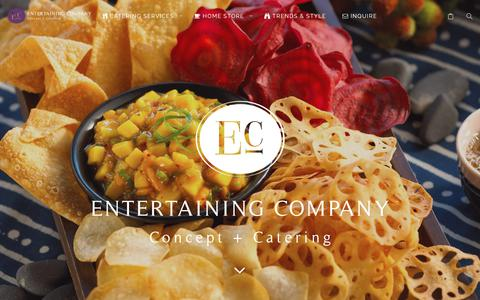 Screenshot of Home Page entertainingcompany.com - Entertaining Company | Chicago's Creative Caterer - captured July 19, 2018