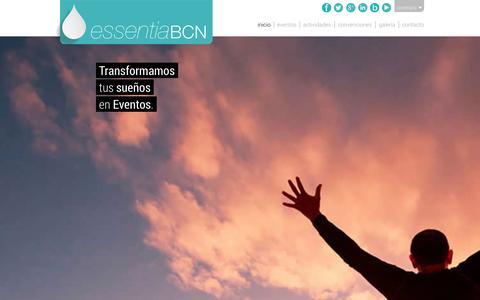 Screenshot of Home Page essentiabcn.com - EssentiaBCN - Eventos, Actividades y Convenciones de Empresa - captured Oct. 3, 2014