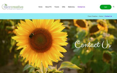 Screenshot of Contact Page favorcreative.com - Contact Us - Favor Creative - captured Sept. 23, 2018