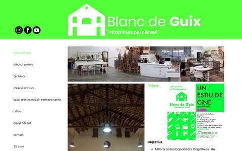 Screenshot of Home Page blancdeguix.com - Blanc de Guix - captured July 31, 2018