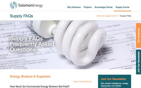 Screenshot of FAQ Page solomonenergy.com - Frequently Asked Questions - captured Aug. 14, 2016