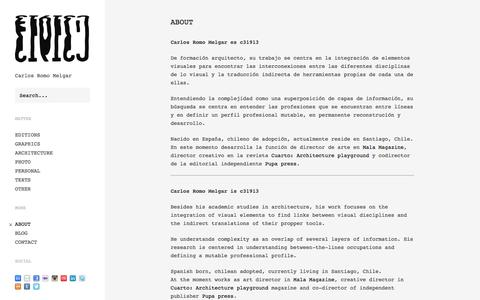 c31913 - Carlos Romo Melgar - About