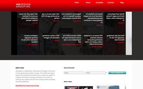 Screenshot of Home Page agdesigngroup.com - AG Design Group | AG Design Group - captured Sept. 30, 2014