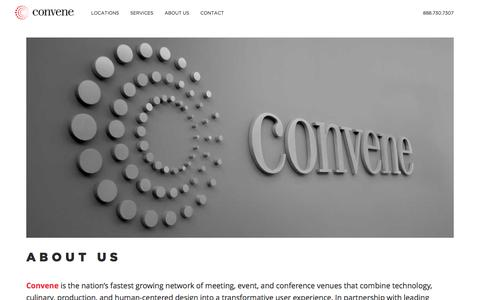 Screenshot of About Page convene.com - About Us - Convene - captured May 21, 2016