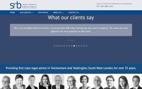 Screenshot of Testimonials Page srb.co.uk - Testimonials - captured Oct. 18, 2018