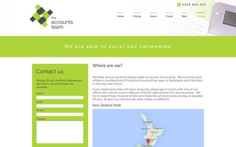 Screenshot of Locations Page theaccountsteam.co.nz - The Accounts Team :: Locations - captured March 7, 2016