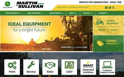 Screenshot of Home Page martinsullivan.com - Home » Martin Sullivan | Serving You Since 1926 - captured Oct. 15, 2018