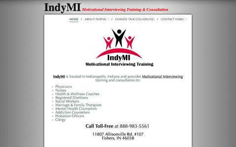 Screenshot of Home Page indymi.com - IndyMI - Motivational Interviewing Training & Consultation - captured Sept. 30, 2014