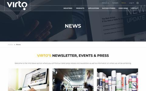 Screenshot of Press Page virtogroup.com - News - Virtogroup - captured Nov. 15, 2017