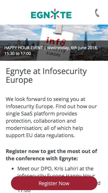Egnyte I Infosecurity Europe