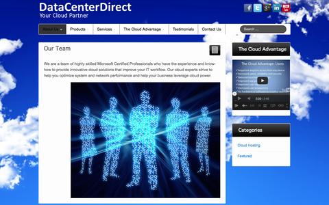 Screenshot of Team Page datacenterdirect.com - Our Team - DataCenterDirect - captured Sept. 30, 2014