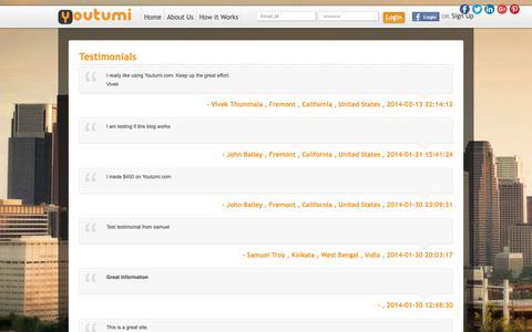 Screenshot of Testimonials Page youtumi.com - Client Testimonials - Youtumi - captured Oct. 18, 2018