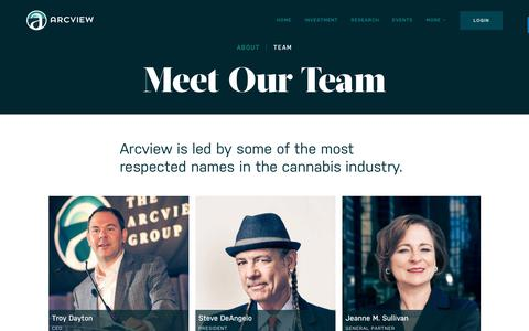Screenshot of Team Page arcviewgroup.com - Meet Our Team   The Arcview Group - captured July 29, 2018