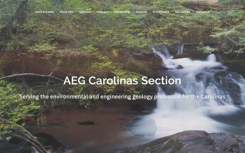 Screenshot of Home Page aegcarolinas.org captured Dec. 5, 2015